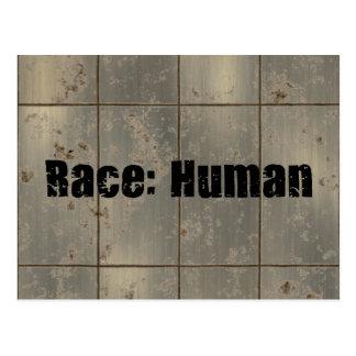 Rennen: Menschlich Postkarten