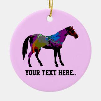 Rennen-Pferd personalisiert Keramik Ornament