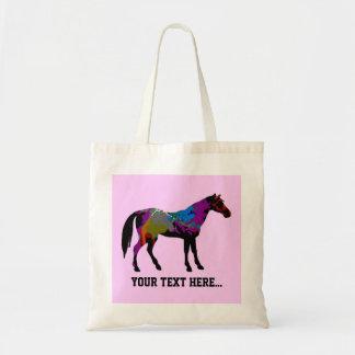 Rennen-Pferd personalisiert Tragetasche