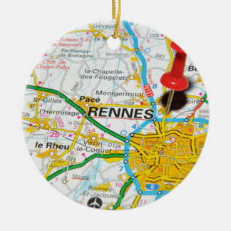 Rennes, Frankreich Rundes Keramik Ornament