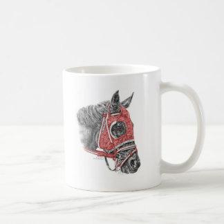 Rennpferd-Porträt-Seiden Kaffeetasse
