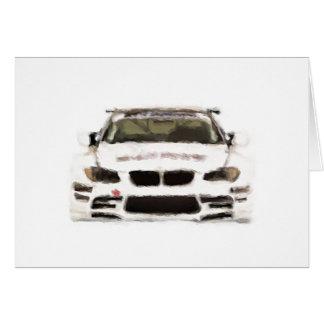 Rennwagen-handgemalte Kunst-Bürsten-Schablone BMWs Karte