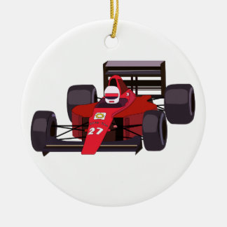 Rennwagen Keramik Ornament