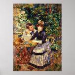 Renoir - dans le jardin poster