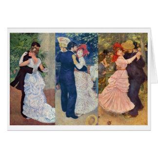 Renoir - danse dans la ville, le pays, et le carte de correspondance