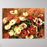 Renoir - jet des anémones poster