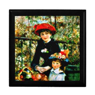 Renoir Kunst: Zwei Schwestern auf der Terrasse Schmuckschachtel