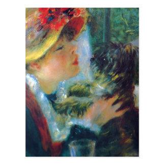 Renoir Mädchen mit Hundepostkarte Postkarte