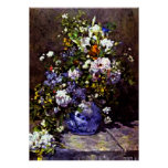 Renoir - vase bleu poster