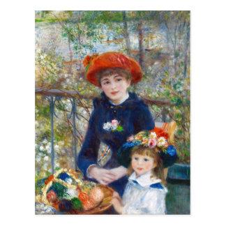 Renoir zwei Schwestern auf einer Terrasse CC0402 Postkarte