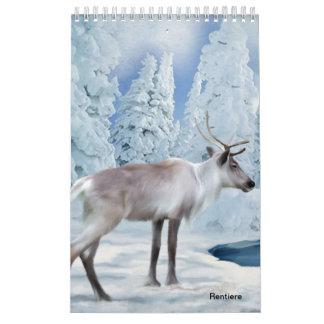 Rentiere Abreißkalender