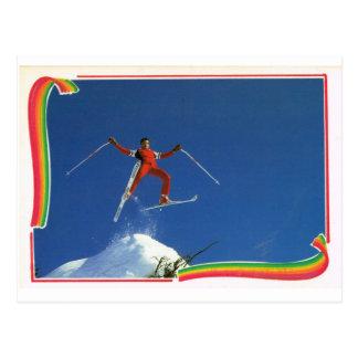 Replik-Vintager Frankreich-Winter-Sport, Ski Postkarte