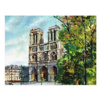 Replik Vintages Frankreich, Paris, Notre Dame Postkarte
