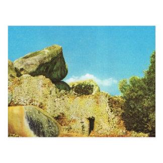 Replik Vintages Ruines von altem Simbabwe Postkarte