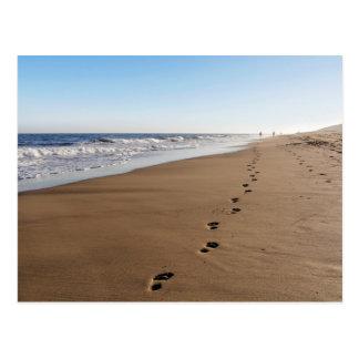 Reproductions de pied à la mer carte postale