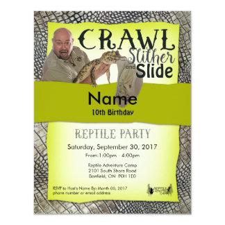 Reptil-Party Einladungs-Party vor Ort 10,8 X 14 Cm Einladungskarte