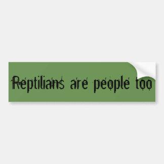 Reptilians sind Leute auch Autoaufkleber
