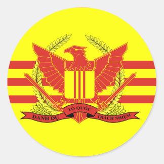Republik der Südvietnam-Streitkraft-Flagge Runder Aufkleber