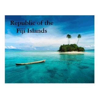 Republik des Fidschi-Inseln postard Postkarte