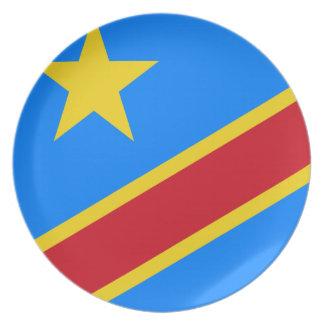 Republik Kongos-Weltflagge Melaminteller