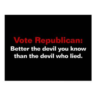 Republikaner - der Teufel, den Sie kennen Postkarten
