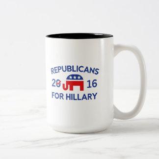 Republikaner für Hillary Zweifarbige Tasse