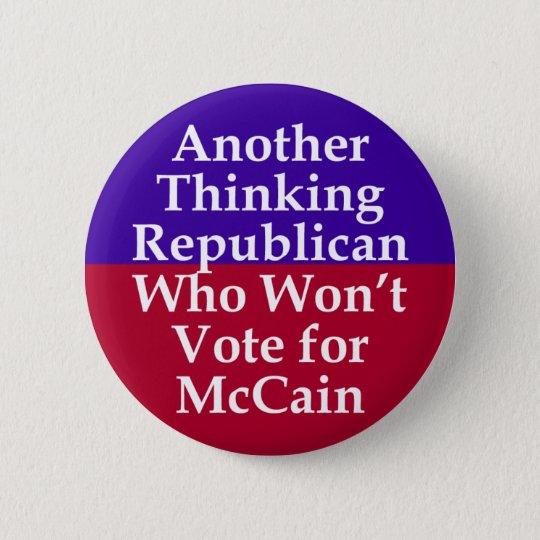 Republikaner gegen McCain Knopf Runder Button 5,1 Cm