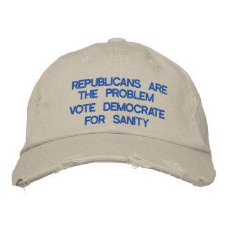 Republikaner sind das Problem! Bestickte Baseballkappe