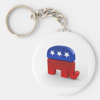 Republikanische Party-Logo-Produkte Standard Runder Schlüsselanhänger