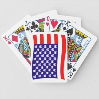 Republikanische US Flagge-Flagge Bicycle Spielkarten