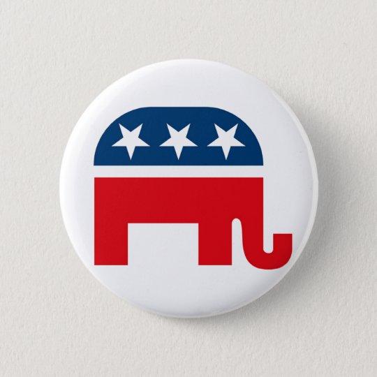 Republikanischer Elefant Pinback Knopf Runder Button 5,7 Cm