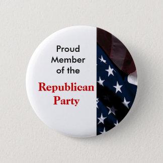 Republikanischer Party-Knopf Runder Button 5,7 Cm