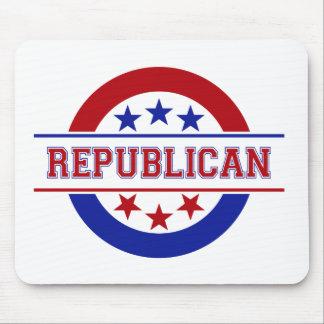 Republikanisches Briefmarken-Logo-Rot Mauspad