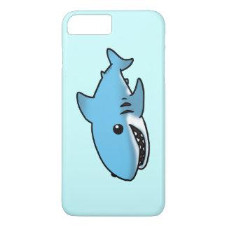 requin bleu de bande dessinée coque iPhone 7 plus