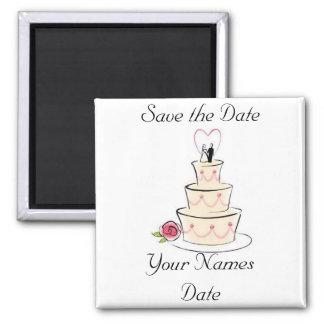 Réservez la date magnet carré