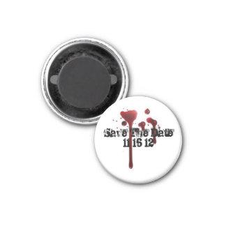Réservez la date magnet carré 2,50 cm