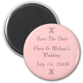 Réservez la date magnet rond 8 cm