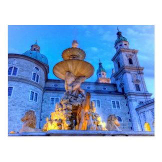 Residenzplatz in Salzburg, Österreich Postkarte