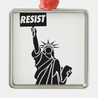 Resist_for_Liberty Silbernes Ornament
