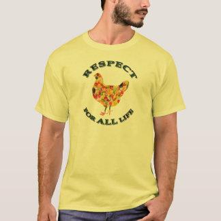 Respekt für ALLES Leben - vegetarisches Geflügel T-Shirt