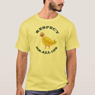 Respekt für ALLES Leben - vegetarisches Huhn T-Shirt