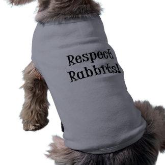 Respekt-Kaninchen Ärmelfreies Hunde-Shirt