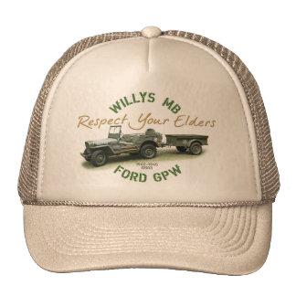 Respekt MB GPW Ihre Ältesten - Hut Retrokappe