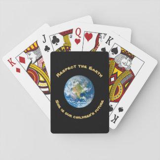 Respekt-Planeten-Erdspielkarten Spielkarten
