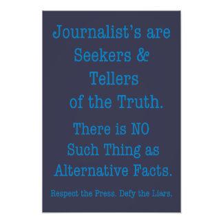 Respektieren Sie die Presse Fotodruck