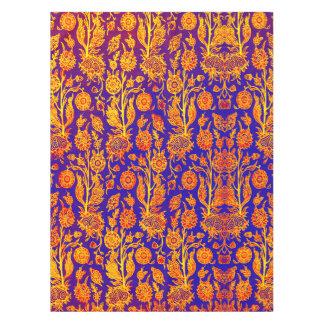 Resplendent rote blaue Muster-mit BlumenTischdecke Tischdecke