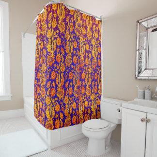Resplendent roter blauer Muster-mit Duschvorhang