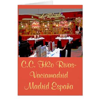 Restaurant Einkaufszentrum H2O von Rivas vaciamad Grußkarte