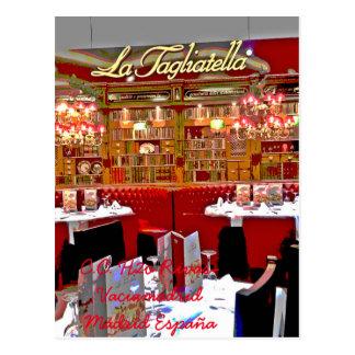 Restaurant Einkaufszentrum H2O von Rivas vaciamad Postkarte