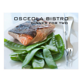 Restaurant-Foto-Geschenk-Zertifikat-Karten Postkarte